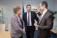 Visite de Milen Vrabevski, président de la Bulgarian Memory Foundation et lauréat bulgare du Prix du citoyen européen 2013 décerné par le PE, à la CE