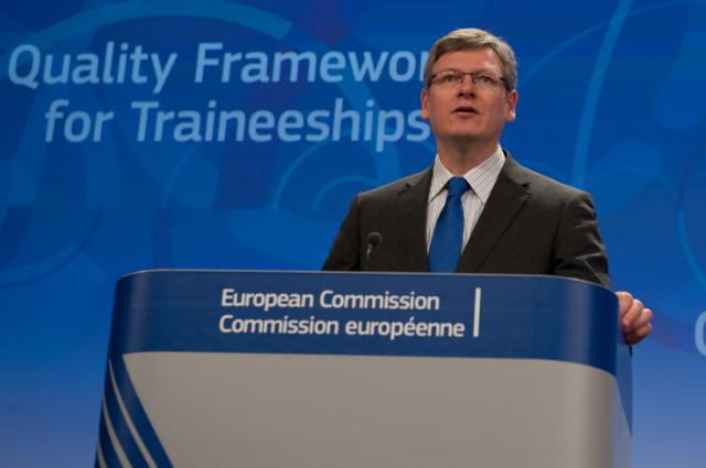 Press conference by László Andor, Member of the EC, on the proposal to improve quality of traineeships