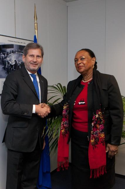 Visit of Josette Borel-Lincertin, President of the Regional Council of Guadeloupe, to the EC