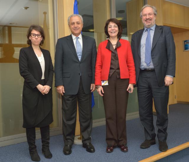 Visite de Vassilis Kaskarelis, conseiller principal auprès du conseil d'administration et membre du comité de direction de la Fondation Stavros Niarchos, à la CE