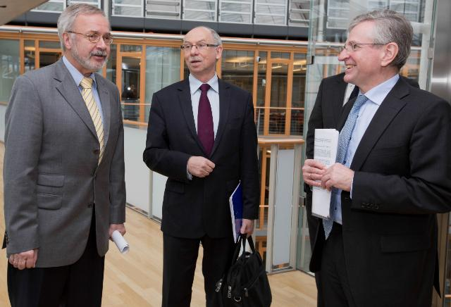 Meeting between Werner Hoyer, President of the EIB, Wilhelm Molterer, Vice-President of the EIB, and Janusz Lewandowski, Member of the EC