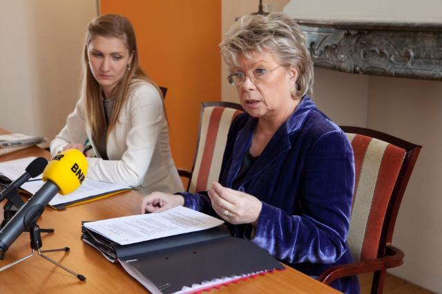 Dialogue avec les citoyens à Amsterdam avec Viviane Reding