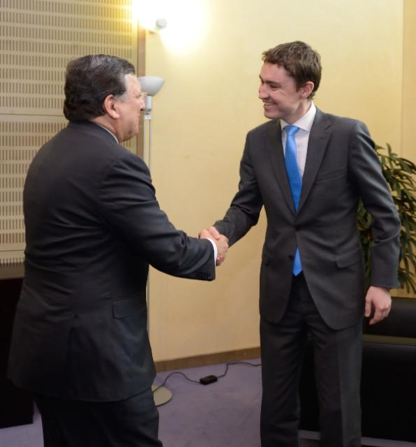 Visite de Taavi Rõivas, Premier ministre estonien, à la CE