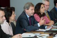 Participation of Maria Damanaki and Johannes Hahn, Members of the EC, at the roundtable on the launch of the EU Strategy for the Adriatic and Ionian Region