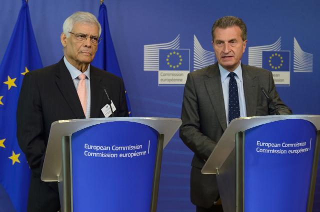 Conférence de presse conjointe de Günther Oettinger, membre de la CE, et Abdalla Salem El-Badri, secrétaire général de l'OPEP, suite à la réunion annuelle du dialogue UE/OPEP sur l'énergie