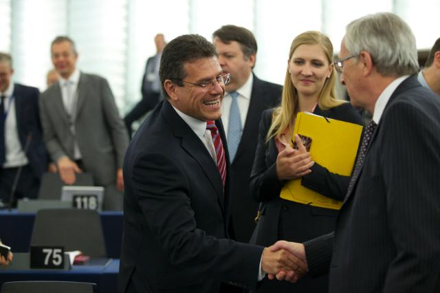 Participation of Maroš Šefčovič, Vice-President of the EC, in the EP plenary session
