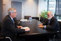 Meeting between Miguel Arias Cañete, Member of the EP, and Jean-Claude Juncker, President-elect of the EC