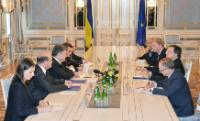 General view of the meeting, from left to right, on the left, from the 2nd: Valeriy Chaly, Deputy Head of the Ukrainian Presidential Administration, Petro Poroshenko, Kostiantyn Yelisieiev, Head of the Mission of Ukraine to the EU, on the right: Jan Tombiński, Head of the Delegation of the EU to Ukraine, José Manuel Barroso, Štefan Füle and Hugo Sobral, Deputy Head of cabinet of José Manuel Barroso and Diplomatic Adviser