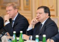 José Manuel Barroso, à droite, et Štefan Füle