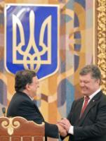 """Illustration of """"Visite de José Manuel Barroso, président de la CE, et Štefan Füle, membre de la CE, en Ukraine"""""""
