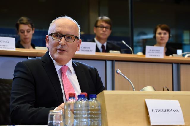 Audition de Frans Timmermans, premier vice-président désigné de la CE, au PE