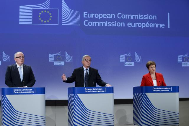 Press conference on the conclusions of the weekly meeting of the Juncker Commission