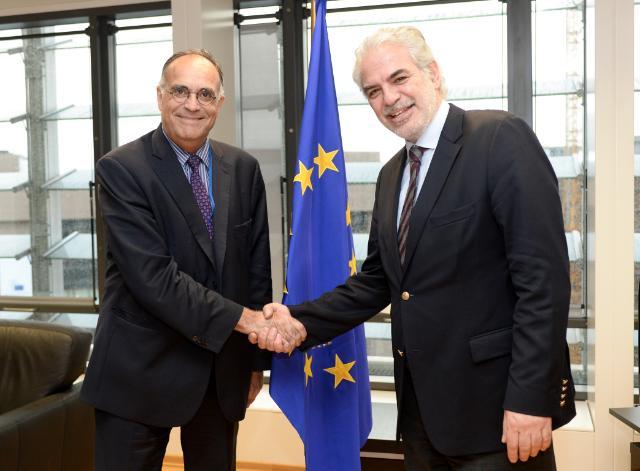 """Illustration of """"Christos Stylianides reçoit Michel Reveyrand de Menthon, représentant spécial de l'UE pour le Sahel"""""""