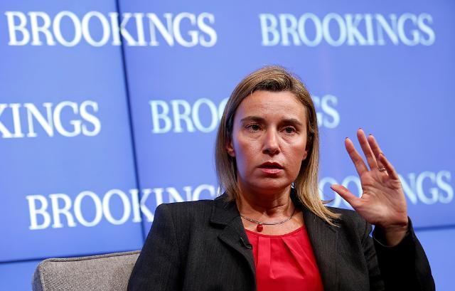 Visite de Federica Mogherini, vice-présidente de la CE, aux États-Unis