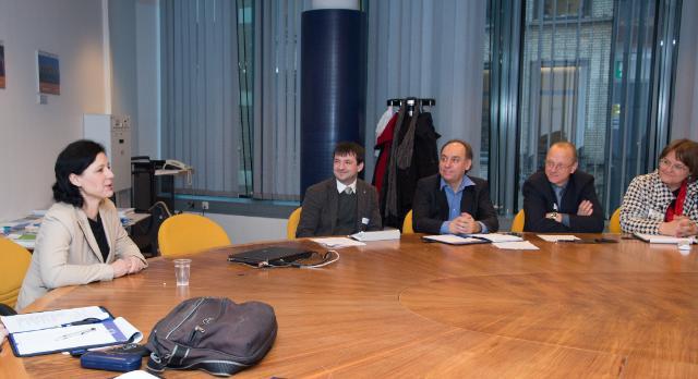 Vĕra Jourová receives Professors and Academics in the area of Czech-EU integration