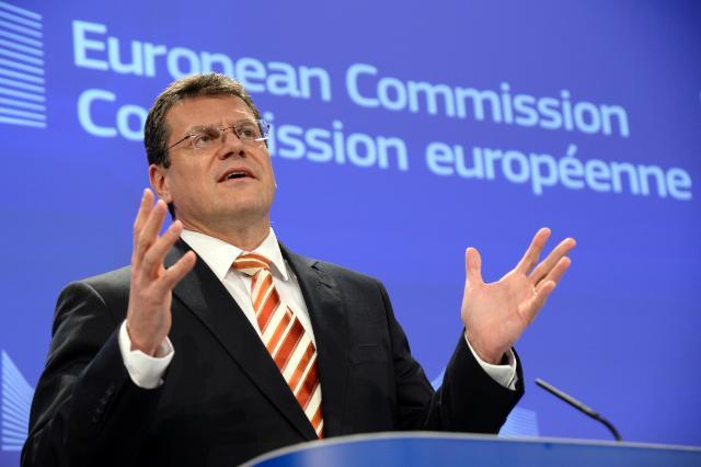 Conférence de presse de Maroš Šefčovič, vice-président de la CE, sur les conclusions de la réunion hebdomadaire de la Commission Juncker