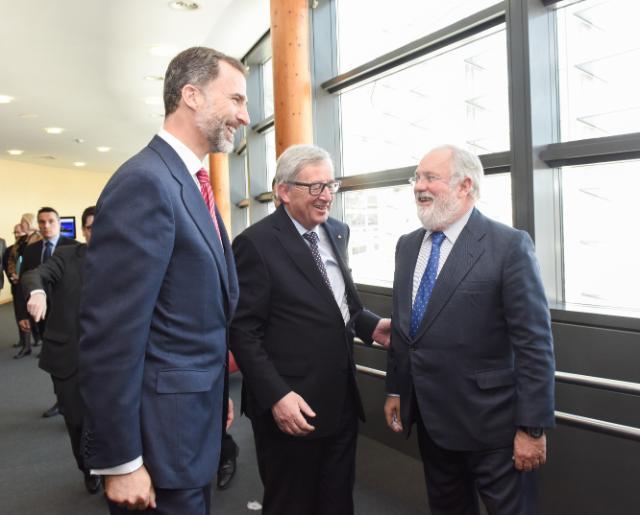 Visite de Felipe VI, roi d'Espagne, à la CE
