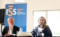 Antonio Missiroli, on the left, and Federica Mogherini