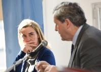 Federica Mogherini, on the left, and Alain Le Roy