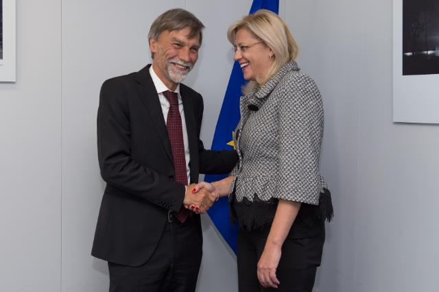 Visit of Graziano Delrio, Italian Minister for Infrastructure and Transport, to the EC