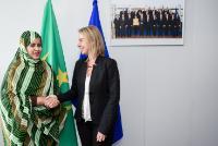 Visite de Vatma Vall Mint Soueina, ministre mauritanienne des Affaires étrangères et de la Coopération, à la CE