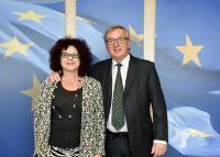 Visite de Roxana Iftimie, ambassadrice roumaine au Luxembourg, à la CE