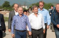 Visite de Johannes Hahn à Skopje