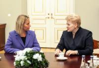 Visite de Federica Mogherini, vice-présidente de la CE, en Lituanie