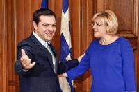 Visite de Corina Creţu, membre de la CE, en Grèce