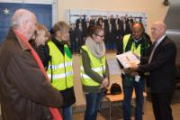 Presentation of a petition by 'Brussels Climate March' to Jos Delbeke, Director General of the DG Climate Action of the EC