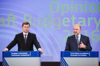 Joint press conference by Valdis Dombrovskis, Vice-President of the EC, and Pierre Moscovici, Member of the EC, on the Draft Budgetary Plans for 2016