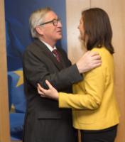 Visite de Katrin Göring-Eckardt, co-présidente du groupe parlementaire des Verts au Bundestag allemand, à la CE