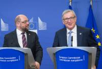 Joint press conference by Jean-Claude Juncker, President of the EC, and Martin Schulz, President of the EP, ahead of the European Council meeting of 17 and 18 December 2015