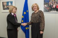 Visit of Aura Răducu, Romanian Minister for European Funds, to the EC