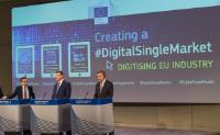 Joint press conference by Andrus Ansip, Vice-President of the EC, Günther Oettinger and Carlos Moedas, Members of the EC, on the presentation of the path to digitise European industry