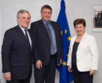 Visit of Jan Jambon, Belgian Minister for Security and the Interior, in charge of the Buildings Agency, and Antonio Tajani, Vice-President of the EP, to the EC