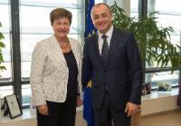 Visite d'Elias Bou Saab, ministre libanais de l'Education et de l'Enseignement supérieur, à la CE