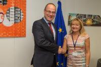 Visite de Marie-Louise Rönnmark, maire d'Umeå et suppléante du Comité des régions (CdR), à la CE