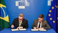 Participation de Carlos Moedas, membre de la CE, à la cérémonie de signature du programme de coopération en faveur du Brésil