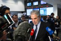 Christos Stylianides, Member of the EC, at the Emergency Response Centre (ERC)