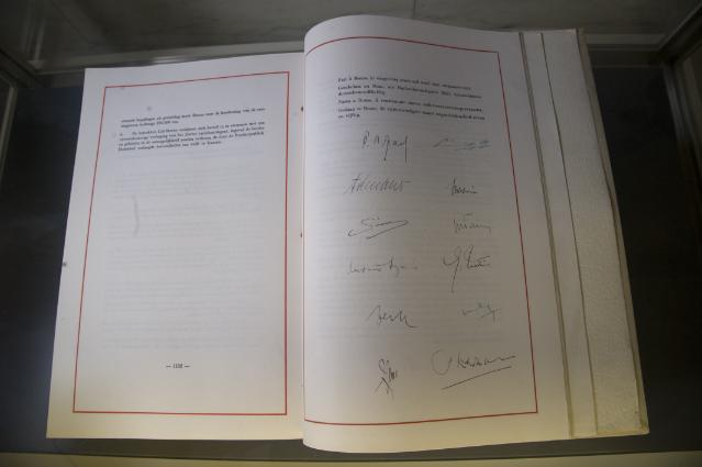 Exhibition of a collection of Treaties of the European construction at the Palazzo della Farnesina, the building of the Italian Ministry for Foreign Affairs