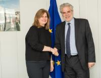 Visit of Sarah Brown, Founder and Chair of Theirworld, to the EC