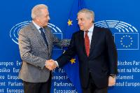 Meeting between Antonio Tajani, President of the EP, and Dimitris Avramopoulos, Member of the EC