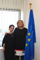 Visit of Corina Creţu, Member of the EC, to Strasbourg