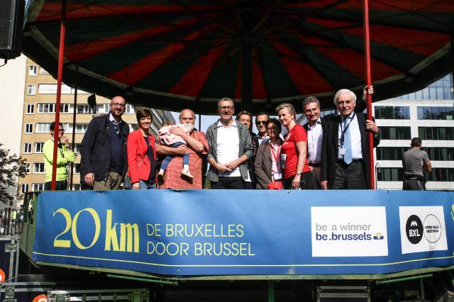 Lancement des 20 km de Bruxelles, sous le patronage de Günther Oettinger, membre de la CE