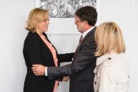 Visite de Tonino Picula, membre du PE, Marie-Antoinette Maupertuis, membre du CdR, et Stefano Mallia, membre du CESE, à la CE