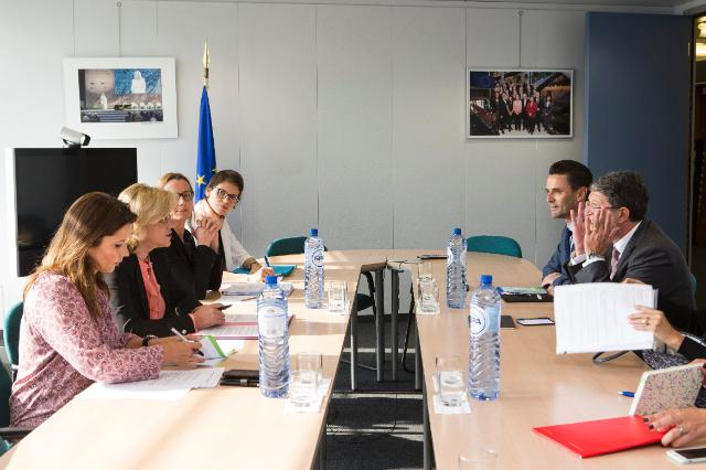 Visit of Tonino Picula, Member of the EP, Marie-Antoinette Maupertuis, Member of the Committee of the Regions (CoR), and Stefano Mallia, Member of the European Economic and Social Committee since (EESC), to the EC.
