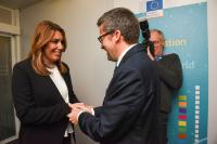 Visite de Susana Díaz, présidente du gouvernement de la Communauté autonome d'Andalousie, à la CE