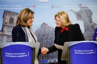 Déclaration de Corina Creţu, membre de la CE, et Catiuscia Marini, présidente de la région de l'Ombrie