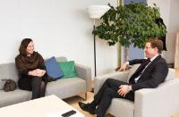 Visit of Anne-Mari Virolainen, Finnish Minister for Foreign Trade and Development, to the EC.